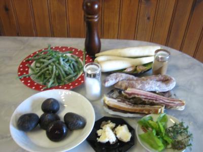 Ingrédients pour la recette : Navets et haricots verts au wok