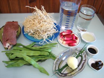 Ingrédients pour la recette : Nouilles au soja façon chinoise