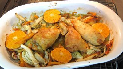 Recette Poulet aux fenouils et butternut