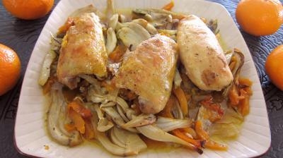 plat complet : Assiette de poulet aux fenouils et butternut
