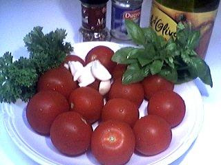 Ingrédients pour la recette : Tomates marinées pour l'apéritif