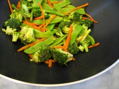Sauté de crevettes aux légumes - 7.3