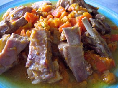 Recette Poitrine de porc aux patates douces