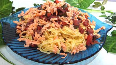 Recette Assiette de tagliatelle au saumon