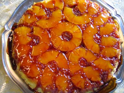 Recette Gâteau aux ananas