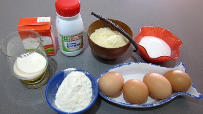 Ingrédients pour la recette : Crème pâtissière aux amandes