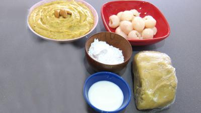 Ingrédients pour la recette : Chaussons aux litchis