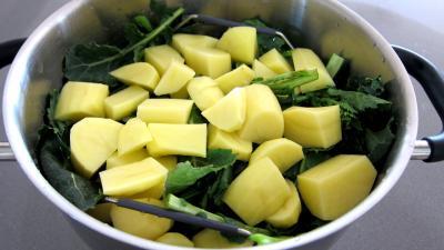 Broutes en purée au chorizo à la landaise - 2.3