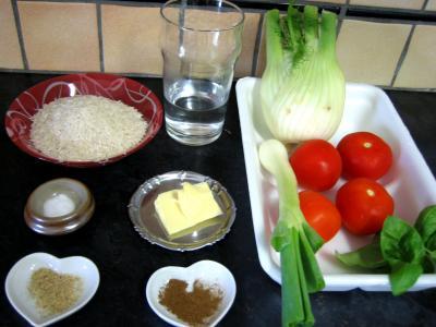 Ingrédients pour la recette : Riz minceur au fenouil