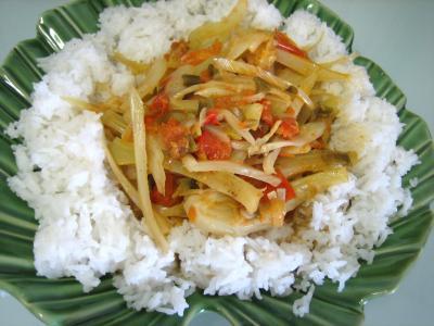 Recette Assiette de riz minceur au fenouil