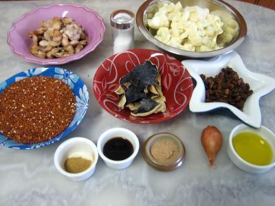 Ingrédients pour la recette : Quinoa et chou-fleur