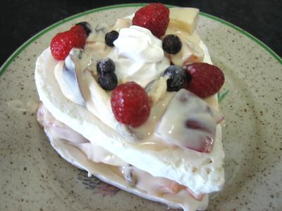 Image : Meringues aux abricots et aux nectarines