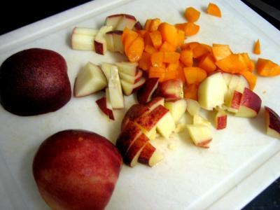 Meringues aux abricots et aux nectarines - 1.2