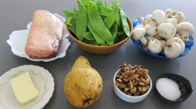 Ingrédients pour la recette : Magret de canard aux pois gourmands