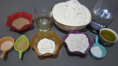Ingrédients pour la recette : Pain tordu au son