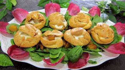 Image : Assiette de mini-gougères fourrées
