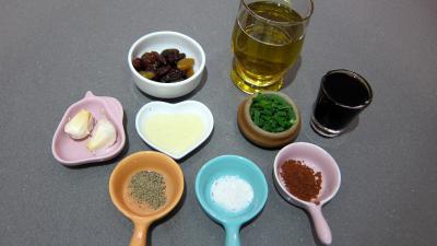Ingrédients pour la recette : Vinaigrette aigre-douce