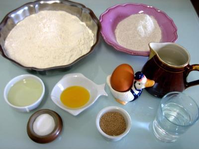 Ingrédients pour la recette : Pain sac