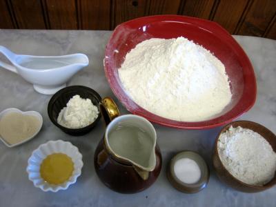Ingrédients pour la recette : Pain fouée de Touraine