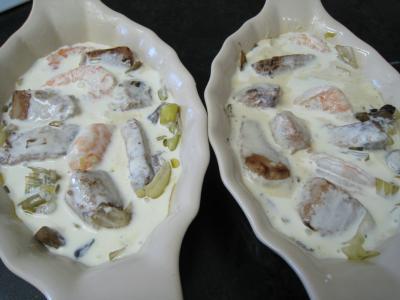 Espadon aux poireaux en cassolettes - 14.1