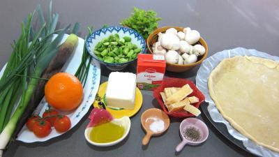 Ingrédients pour la recette : Tarte croustillante aux légumes