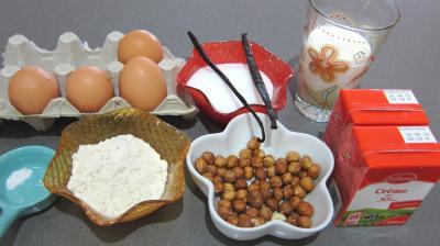Ingrédients pour la recette : Crème pâtissière aux noisettes