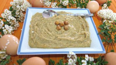 crème dessert : Ramequin de crème pâtissière aux noisettes