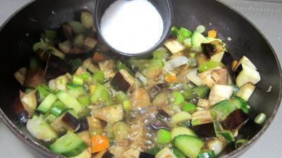 Concombre, poireaux et calamars à l'aigre-doux - 7.3