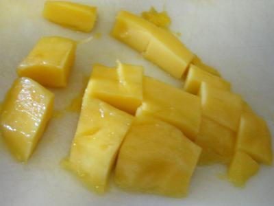 Fraises et mangue au caramel - 6.1
