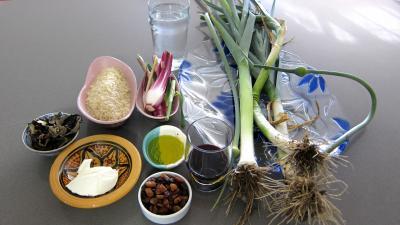 Ingrédients pour la recette : Risotto aux champignons noirs et mascarpone