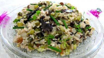 cardamome : Assiette de risotto aux champignons noirs et mascarpone