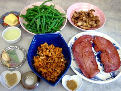 Ingrédients pour la recette : Foie de veau aux haricots verts