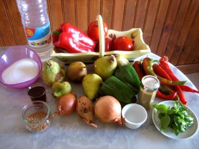 Ingrédients pour la recette : Chutney aux poivrons