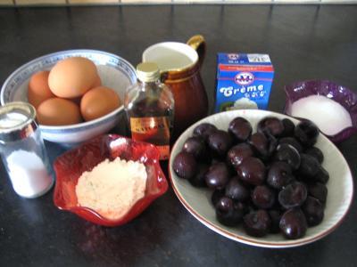 Ingrédients pour la recette : Flan aux cerises
