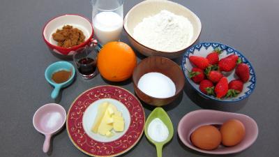 Ingrédients pour la recette : Muffins aux fraises