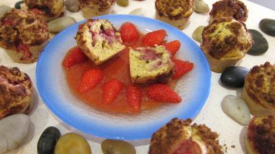 Coulis de fraise : Muffins aux fraises