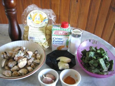 Ingrédients pour la recette : Orecchiettes aux moules