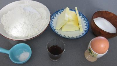Ingrédients pour la recette : Pâte sablée