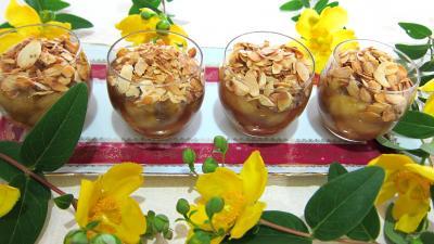 Recettes rapides : Verrines de bananes aux amandes