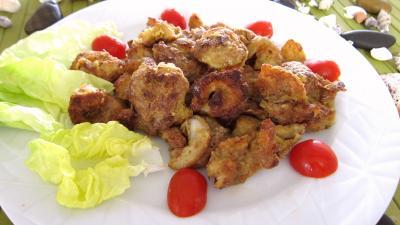 worcestershire : Assiette de gambas au parmesan