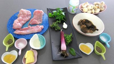 Ingrédients pour la recette : Escalopes de dinde sauce aux morilles