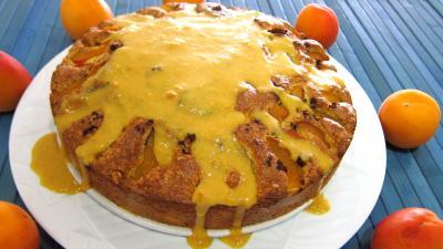 gâteau fruits : Assiette de gâteau aux abricots