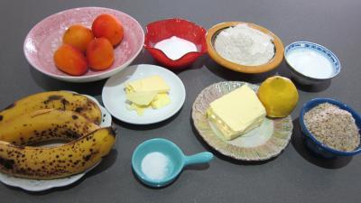 Ingrédients pour la recette : Crumble aux bananes