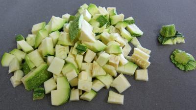 Haricots verts et courgettes gratinés aux fines herbes - 1.4