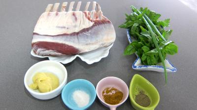 Ingrédients pour la recette : Carré d'agneau à la moutarde