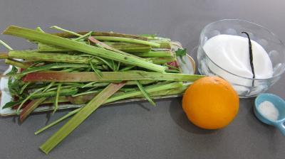 Ingrédients pour la recette : Confiture de rhubarbe