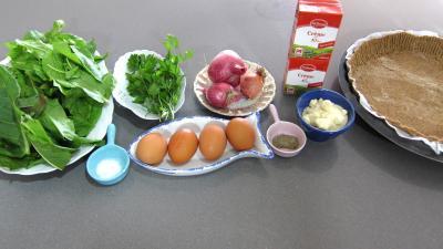 Ingrédients pour la recette : Quiche à l'oseille sans gluten