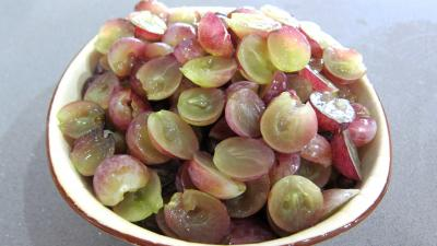 Clafoutis aux raisins et au brousse - 1.2
