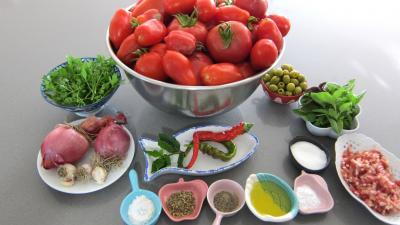 Ingrédients pour la recette : Conserve de sauce pizza aux olives
