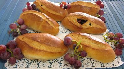 Cramberries séchées : Pains au lait aux raisins frais et cranberries secs